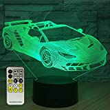 FlyonSea Car Night Light,Kids Night Light with Touch and Remote Control 7 Colors Lamp Holiday and Birthday Gifts Ideas for Children
