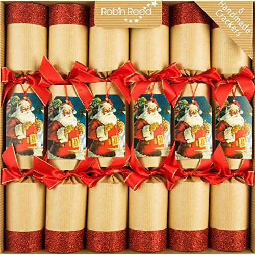 robin reed 6 x 12 traditional santa christmas crackers