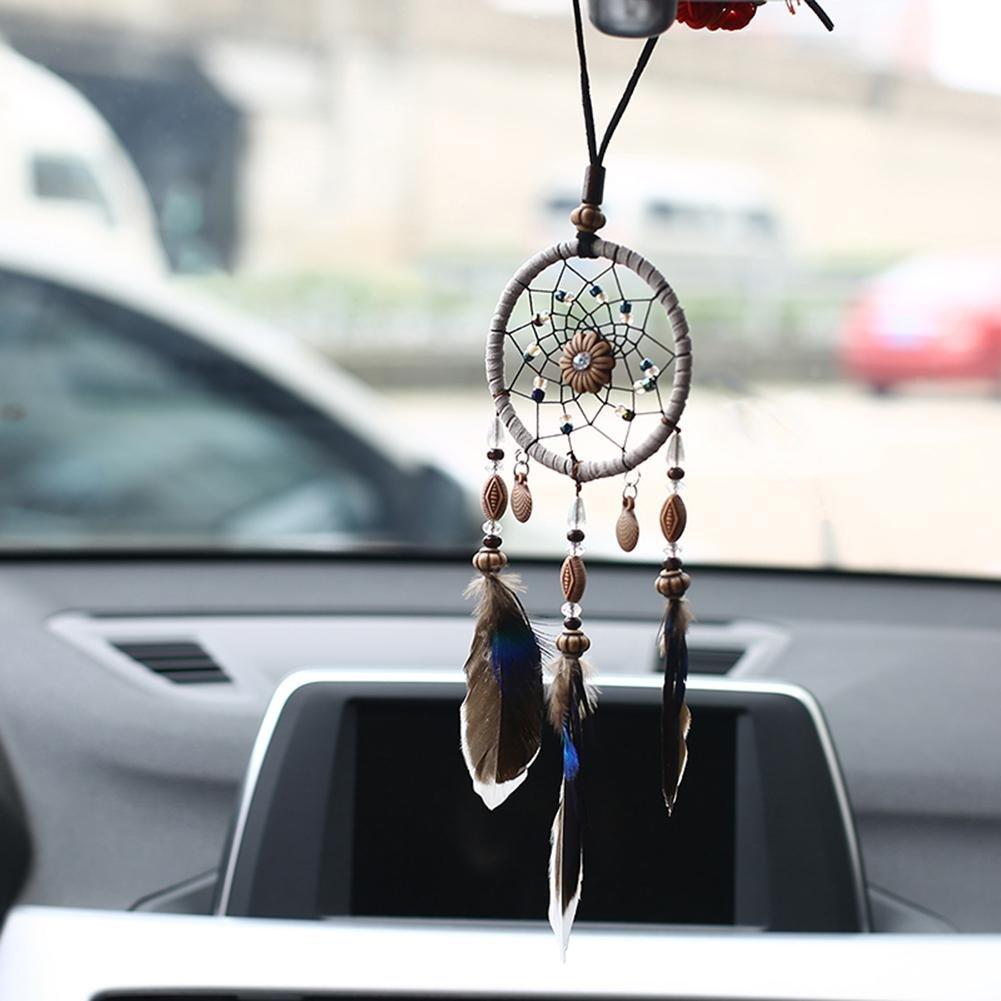 Everpert Acchiappasogni degli indiani d/'America fatto a mano con piume decorazione per casa e auto