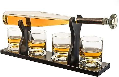 HONEY WYJ Decantador de Whisky de Béisbol, Set Decantador de ...