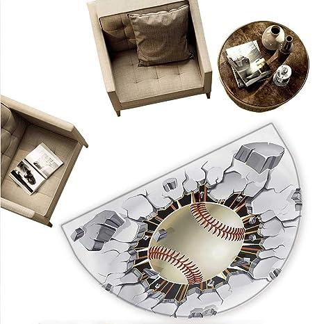 Amazon.com: Cojín semicircular deportivo con temática de ...