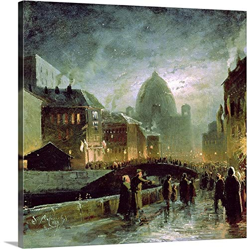 GREATBIGCANVAS Gallery-Wrapped Canvas Entitled Illuminations in St. Petersburg, 1869 by Fedor (1850-1873) Vasiliev 48