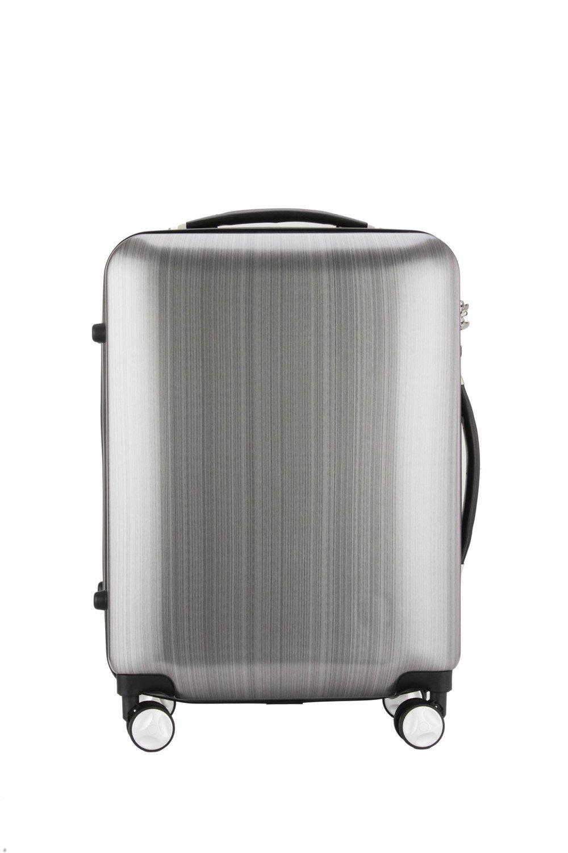 荷物ケース, トラベルバッグスーツケース 男性と女性のビジネスの搭乗ボックスシルバーユニバーサルローラーボックスPC材料シングルポールスーツケース20インチ。 B07V9BX5KZ