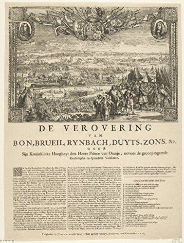 Classic Art Poster - Conquest of Bonn and other German cities by the Prince