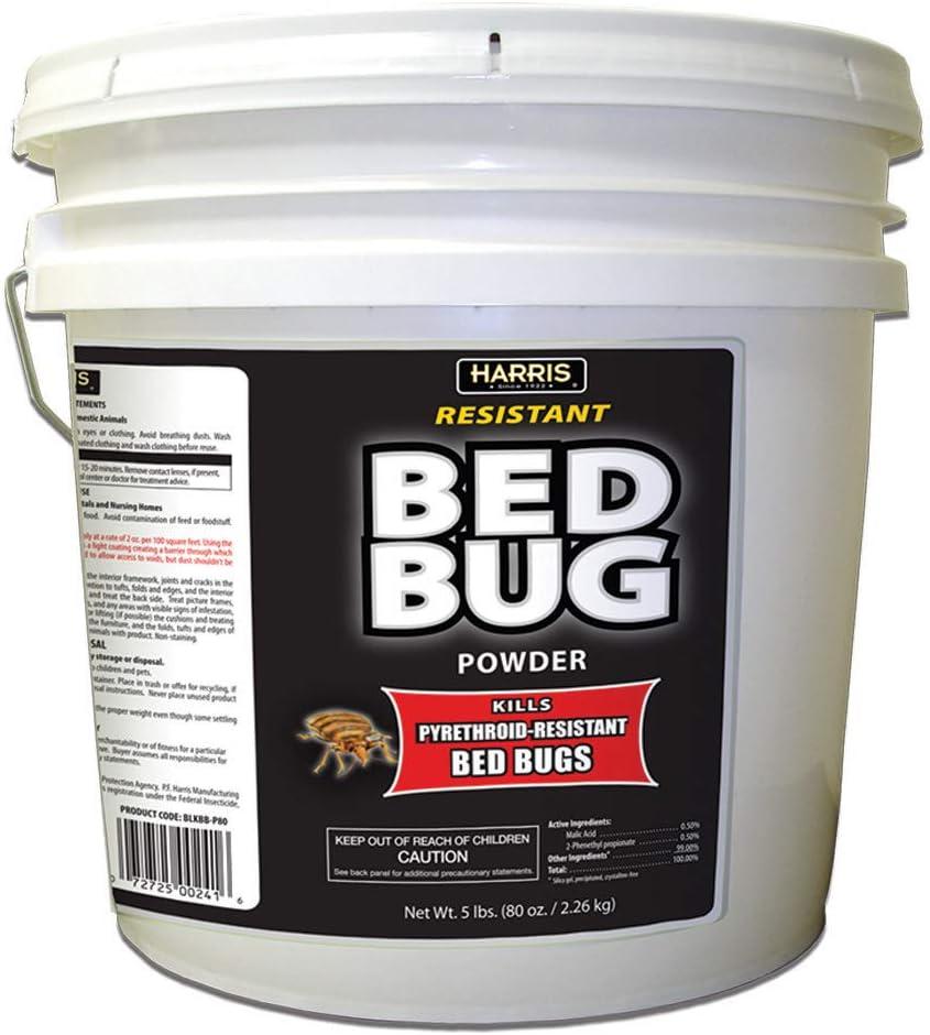 HARRIS Bed Bug Killer Powder, 5lb