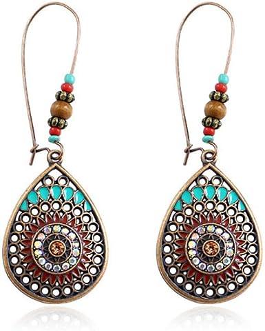 1 Paire Femme Fashion Creative goutte d/'eau Verre Crochet Boucles D/'oreilles Parti Bijoux Cadeau