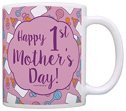 amazon com first mothers day gifts happy 1st mother s day new or