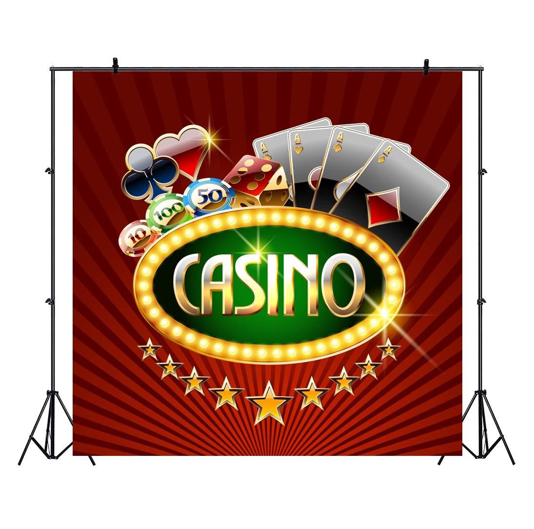 OERJU 2,2x2,2m Casino Fondo Luz Brillante Tablero Moneda de ...