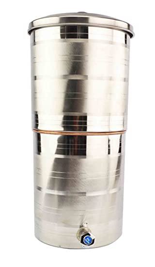 15 litros de acero dispensador de agua filtro de agua de cobre o cama de matrimonio