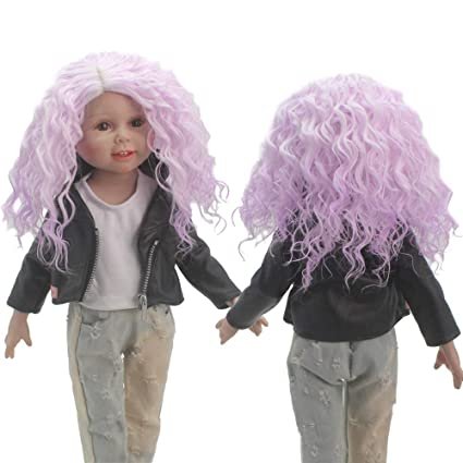 Amazon Com American Girl Doll Wigs Afro Curly Wig Baby Born Pink