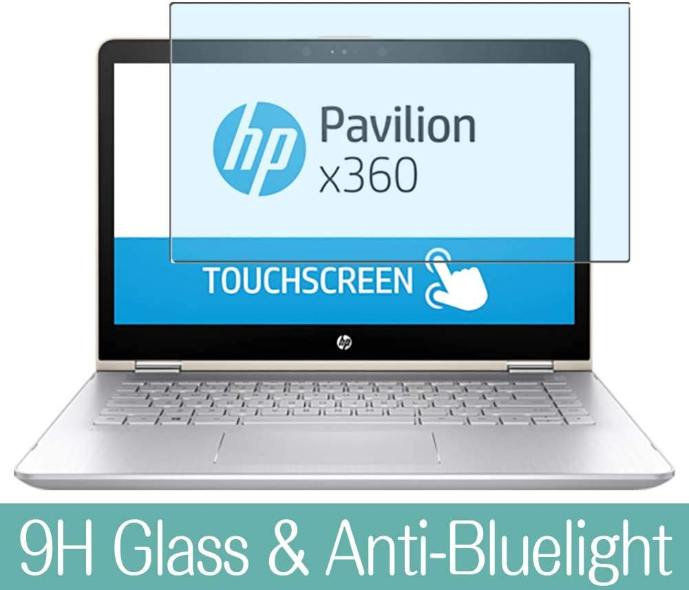 "Synvy Anti Blue Light Tempered Glass Screen Protector for HP Pavilion x360 14-ba200 / ba253cl / ba235cl 14"" Visible Area 9H Protective Screen Film Protectors"
