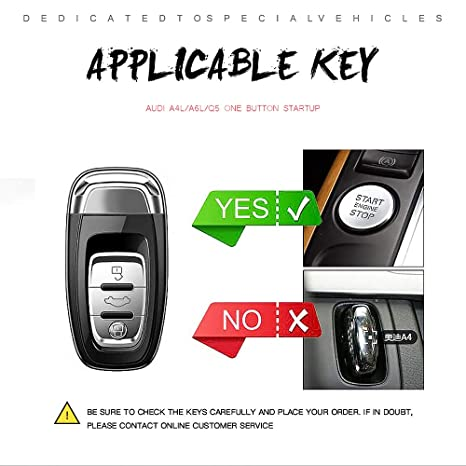 Amazon.com: Audi Key Case with Keychain, Premium Soft TPU 360 Degree Full Protection Key Shell Cover Compatible Audi A4L A6L Q5 A5 A7 A8 S5 S7 Remote Key ...