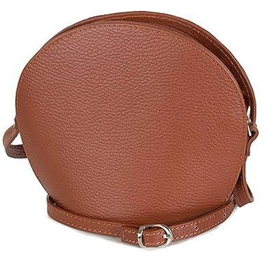 2d5374a695942 Taschenloft kleine Damentasche zum umhängen Leder Abendtasche cognac braun  - Umhängetasche (20 x 17 x 9 cm)  Amazon.de  Schuhe   Handtaschen