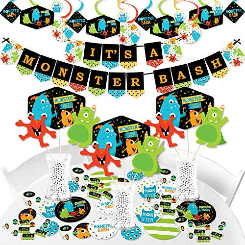 Big Dot of Happiness Monster Bash - Little Monster Baby Shower or Birthday Party Supplies - Banner Decoration Kit - Fundle Bundle]()