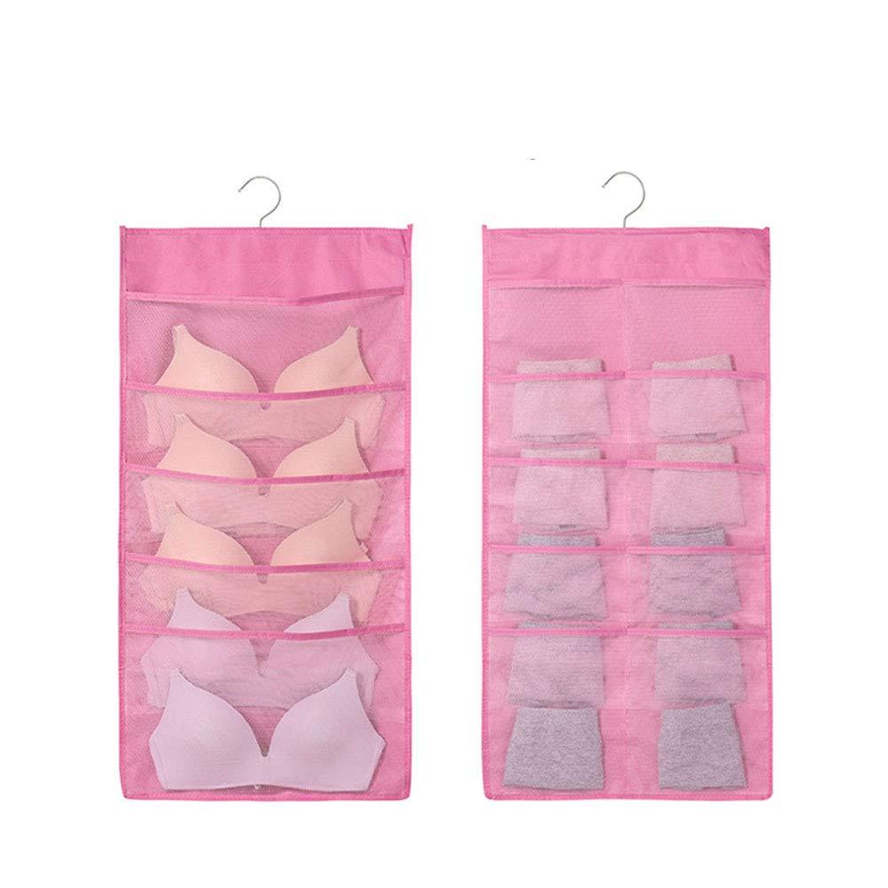 YiYaa H/ängende Tasche Aufbewahrungstasche Oxford Stoff Socken Unterw/äsche Lagerung H/ängen Tasche H/ängen Multifunktions-BH Finishing-Tasche