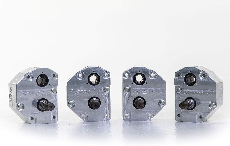 - Cast Aluminum SuperATV 4 Portal Gear Lift for Polaris Ranger XP 1000 Crew 2019+ 30/% Gear Reduction