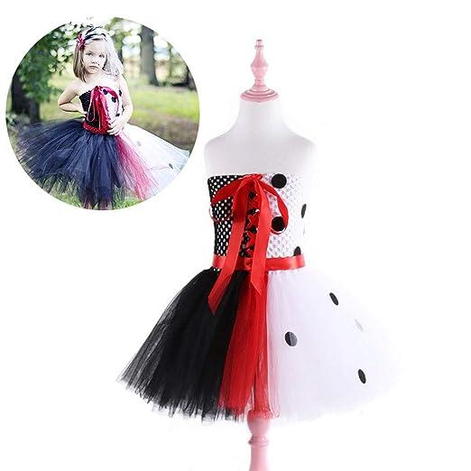 DONGBALA Vestido de Princesa de Halloween, Vestido Cosplay Fiesta ...