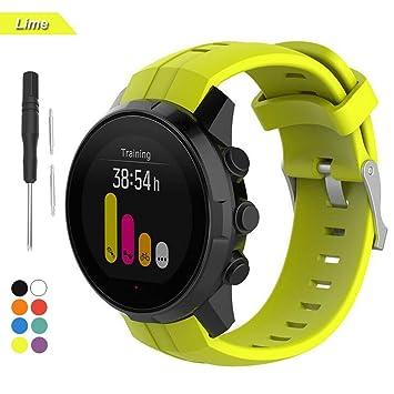 Bemodst para Suunto Spartan Sport Strap, Accesorio de Reemplazo de Silicona Reloj Pulsera Banda Correa para Suunto Spartan Smartwatch (Lima): Amazon.es: ...