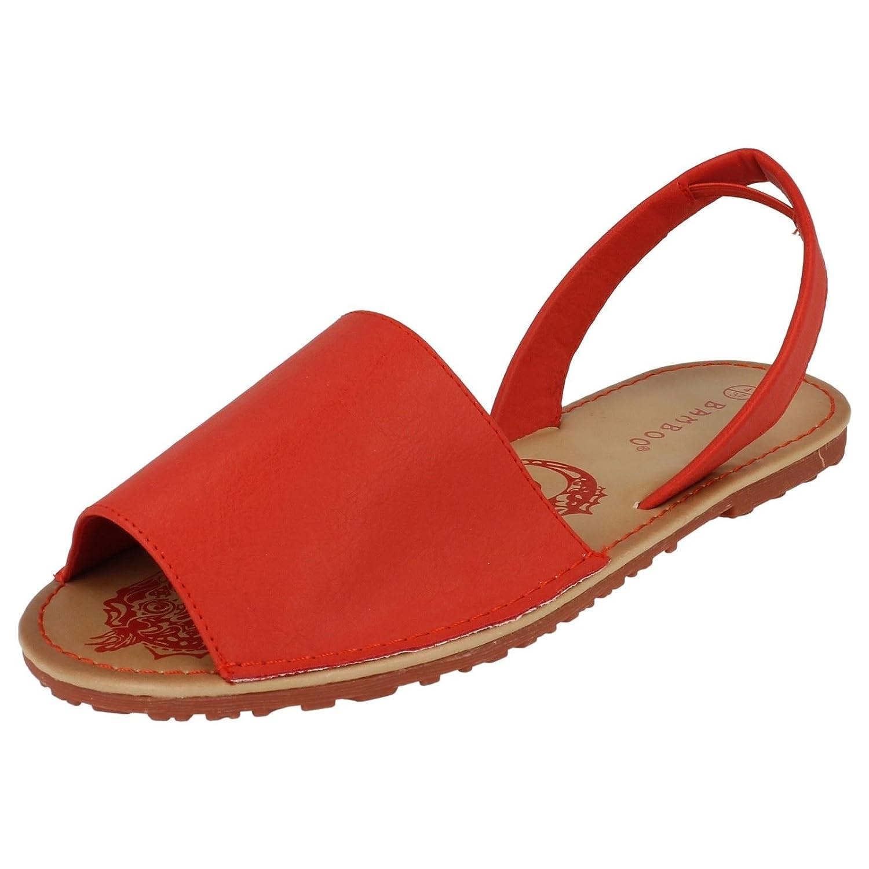 Girls Spot On Mule Slingback Sandales plates - Rouge - rouge, 32