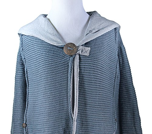 Pure Handknit Studio Classic Onyx 100% Cotton Hoodie Sweater