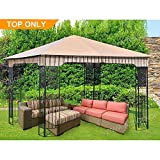 ABCCANOPY Canopy Replacement Gazebo 10' x 10' Soft Top Gazebo Top for Model L-GZ730PST-C1 Beige(only Roof)