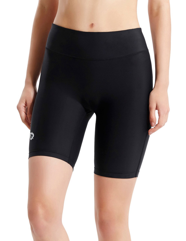 Baleaf Women's 7'' Active Fitness Yoga Running Shorts Pocket Black Size S by Baleaf