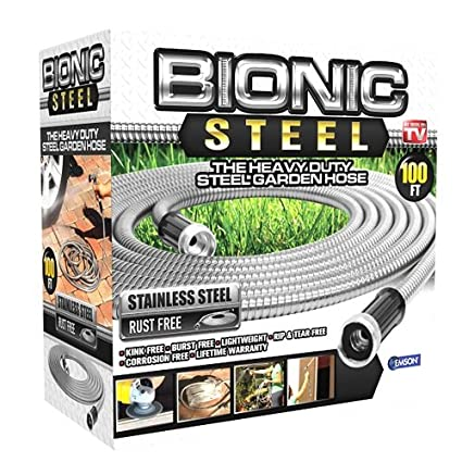 Bionic Steel 304 Stainless Steel Metal Garden Hose   Lightweight,  Kink Free, And