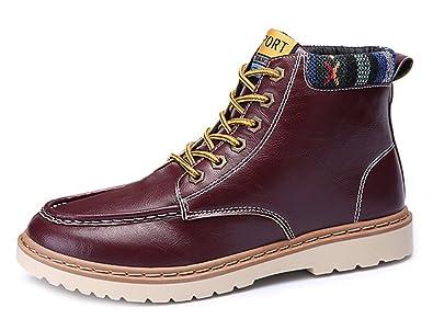 43Amazon Low Easemax Bottines Rouge À Lacets Homme Boots Classique L534AjR