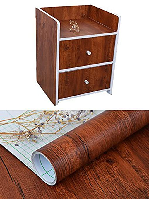 Amazon Com Faux Wood Grain Contact Paper Shelf Drawer Liner For