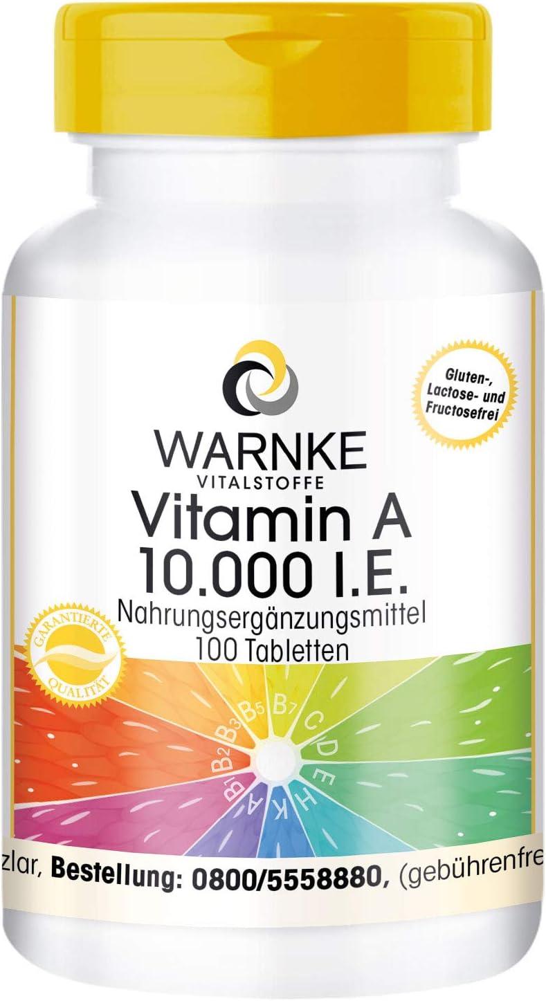 Vitamina A 10.000 U.I. – Retinol en cápsulas – Vegano – 100 cápsulas