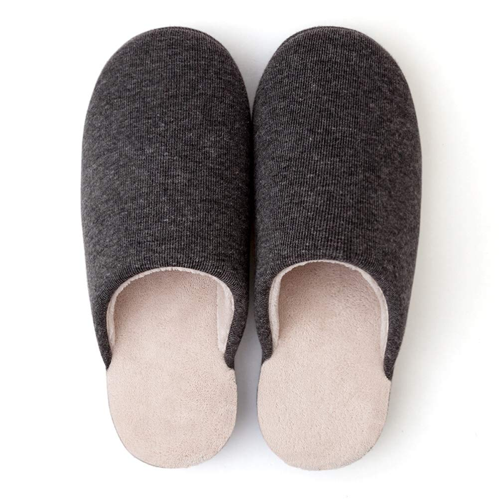 HOUSEHOLD Slippers Durable Indoor Outdoor House Shoes Non Slip Durable Men's Slippers Premium Hardwearing Light Weight House Shoes Slipper (Color : Gray, Size : XXL) by HOUSEHOLD
