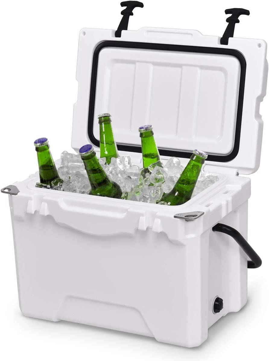 Giantex 20 Quart Portable Cooler Ice Chest Outdoor Insulated Heavy Duty Cooler with Carrying Handle Fishing Hunting Sports