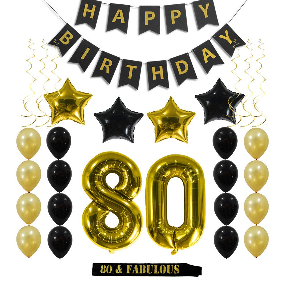 Amazon.com: 80th Birthday Invitations With Envelopes (30