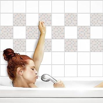 Fliesenaufkleber Für Küche Und Bad | Fliesenfolie Für 15x15cm Fliesen |  Mosaik Moderner Luxus Glänzend |