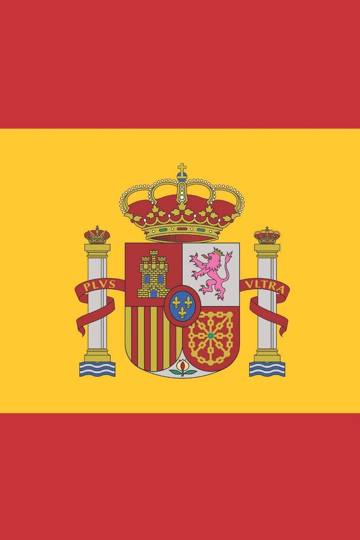 Spain Flag Notebook - Spanish Flag Book - Spain Travel