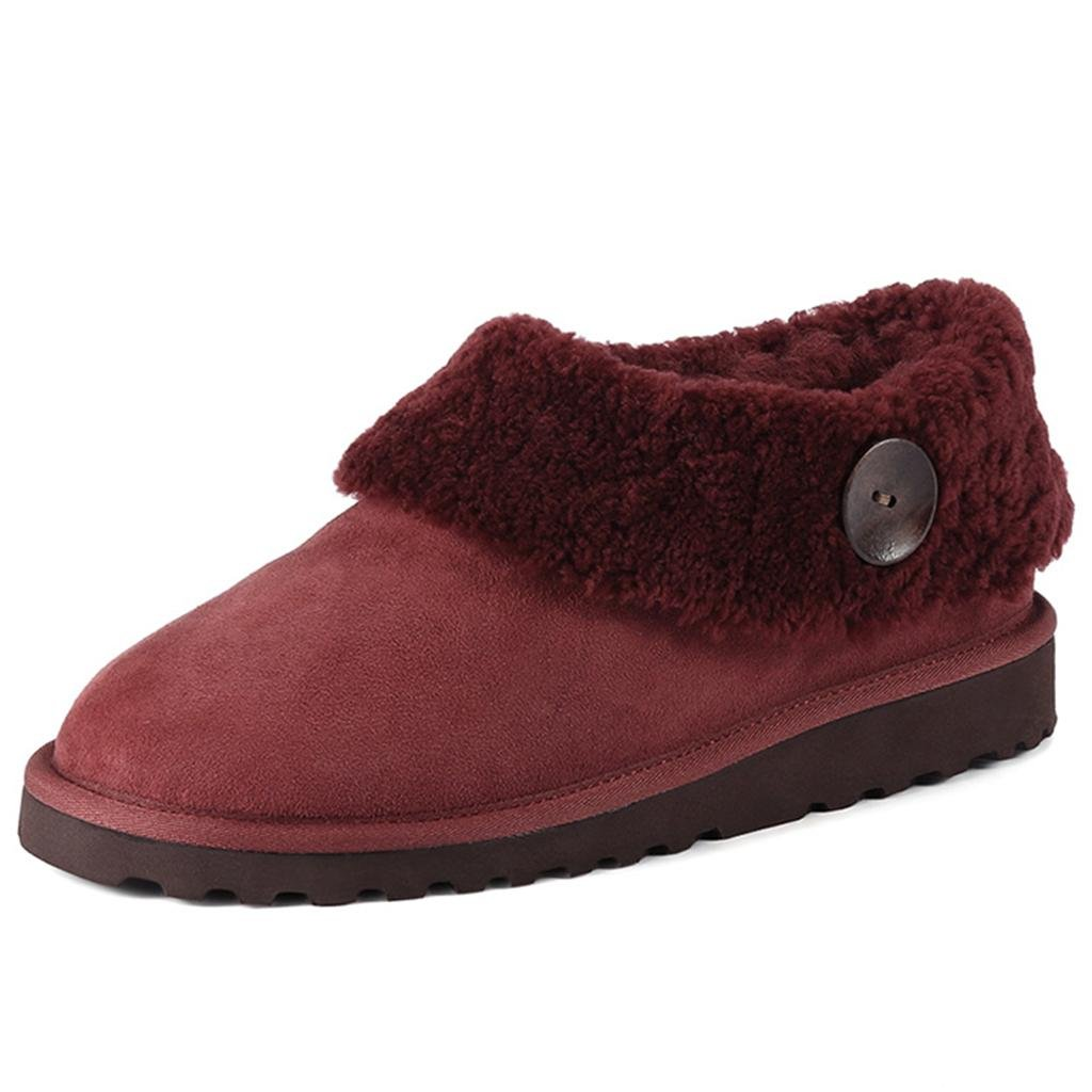 Red LIUshoes L&L Women's Winter Thicker Keep Warm Cotton shoes Female Snow Boots