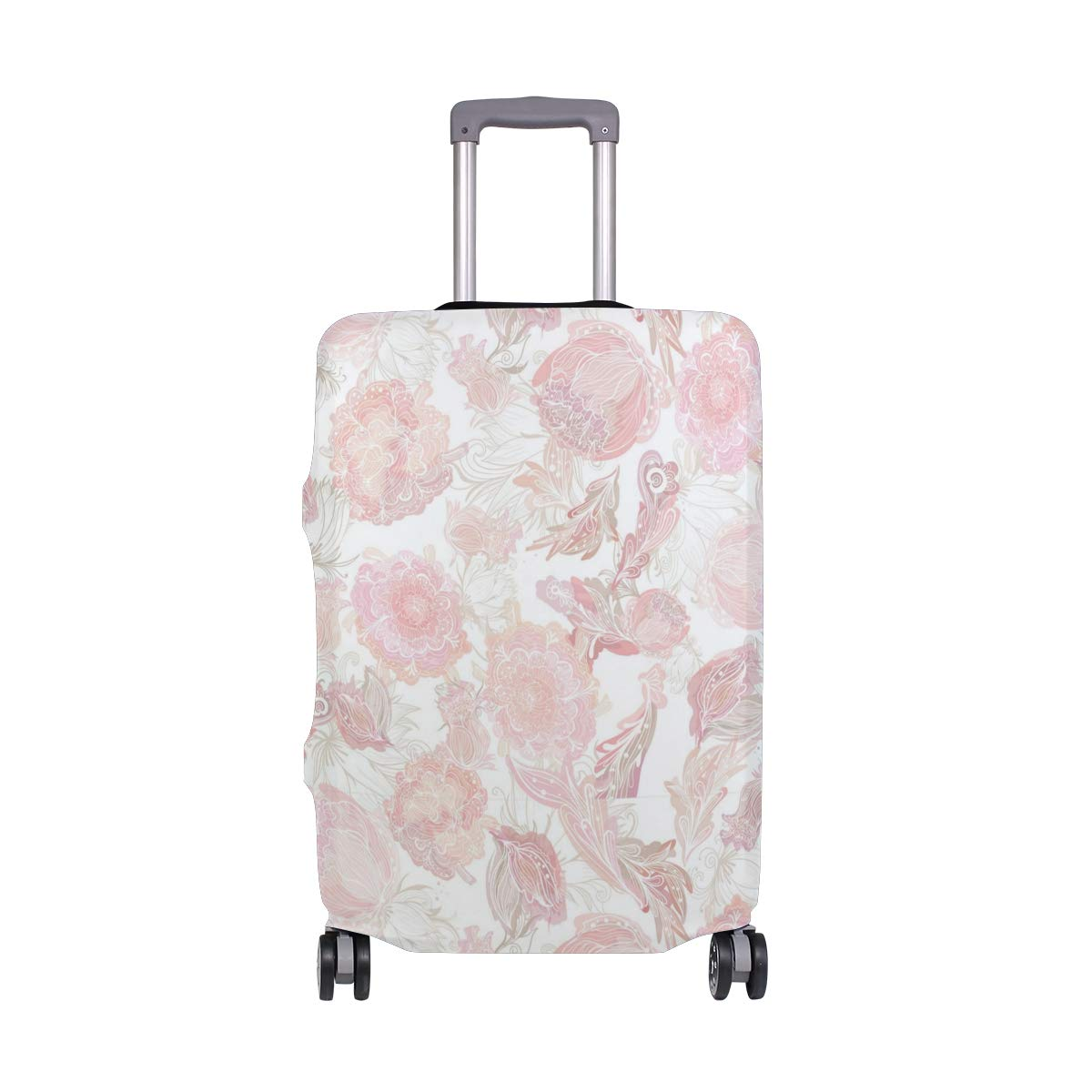 Pink Metal Attribute Rose Traveler Lightweight Rotating Luggage Protector Case Can Carry With You Can Expand Travel Bag Trolley Rolling Luggage Protector Case