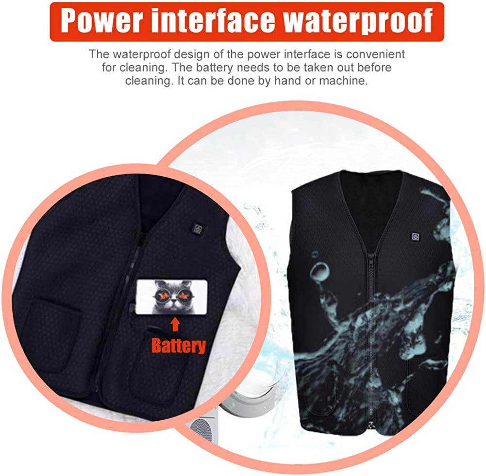 upstartech Heated Vest Electric Warm Vests Body Warmer with Temperature Control Heating