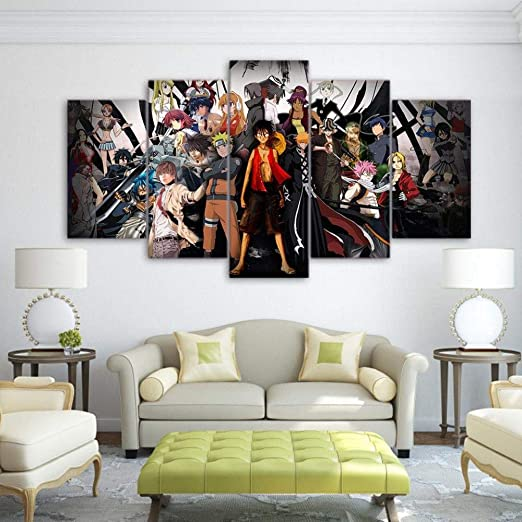 One Piece Anime Canvas Print Anime TV Show Art Home Decor Wall Art