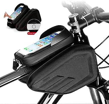 LOY Bolsa para Cuadro Bicicleta - Bolsa Táctil de Tubo Superior ...