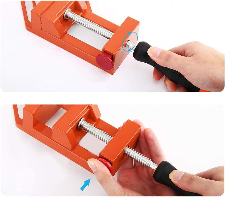 /ángulo recto Ct de 90 grados con doble esquina mango de madera angular de trabajo en accesorios resistentes al hardware de la liga de aluminio DL CO