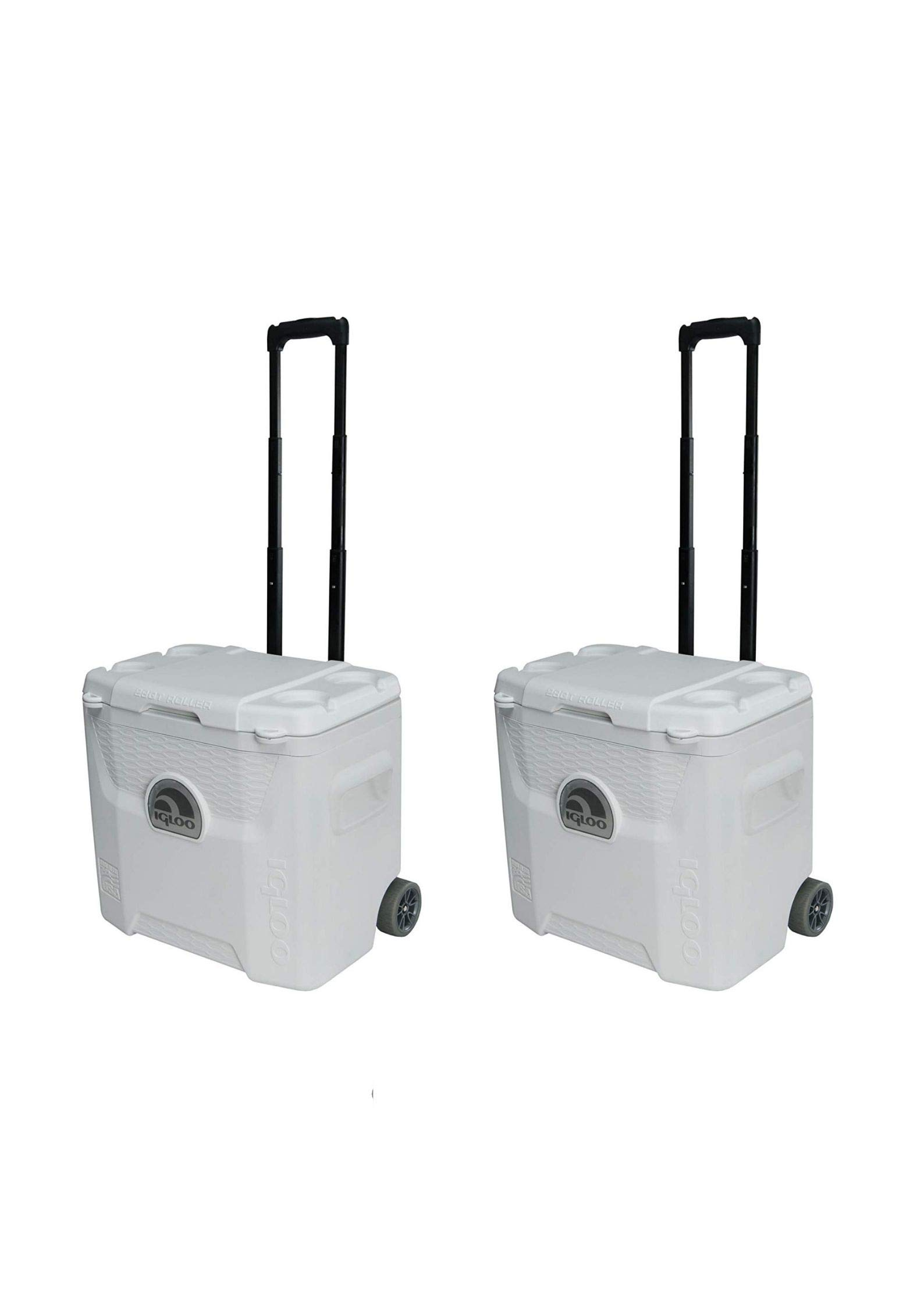 Igloo White 42 Can Marine Quantum Cooler with Wheels (28 Quart/Pack of 2)