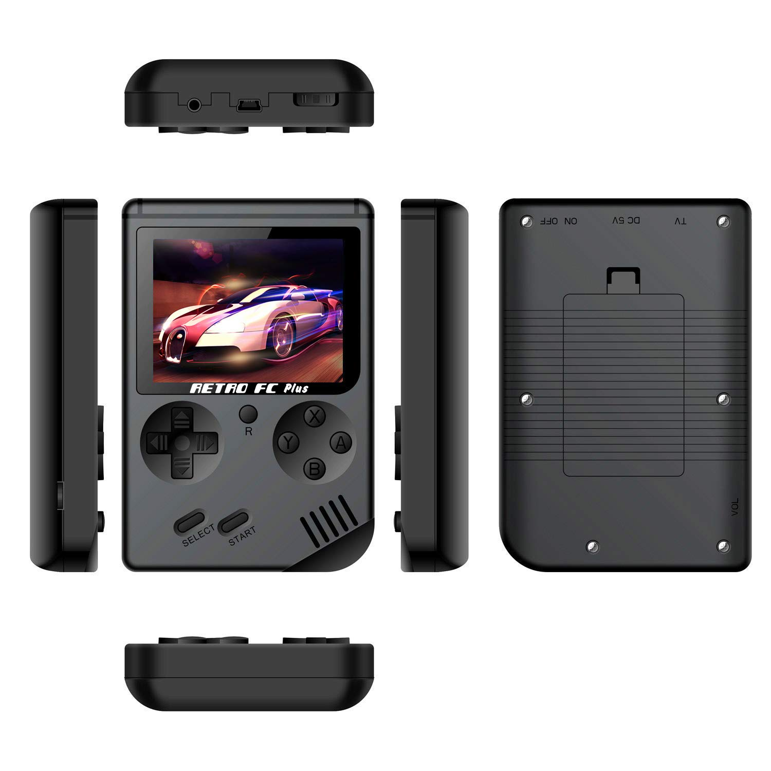 Handheld Game Console with 3 Inch 168 Classic Games, Retro FC Game Console,Entertainment System Video Game Console , Birthday Present for Children by BAORUITENG (Image #2)