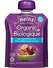 Heinz Baby Organic Pear, Sweet Potato & Plum Pouch, 128mL (Pack of 6)