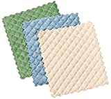 : Envision Home 3-Pack Microfiber Quilted Kitchen Dish Cloths, 6-1/2 by 7-1/2-Inch