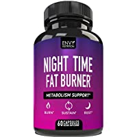 Night Time Fat Burner - Metabolism Support, Appetite Suppressant and Weight Loss Diet Pills for Men and Women - 60 Capsules
