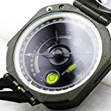 CARESHINE Mini Transit Army Geology Compass Army Green Pocket Transit Plastic Compass for Outdoor Hiking Camping Survival Marching Surveyors Foresters