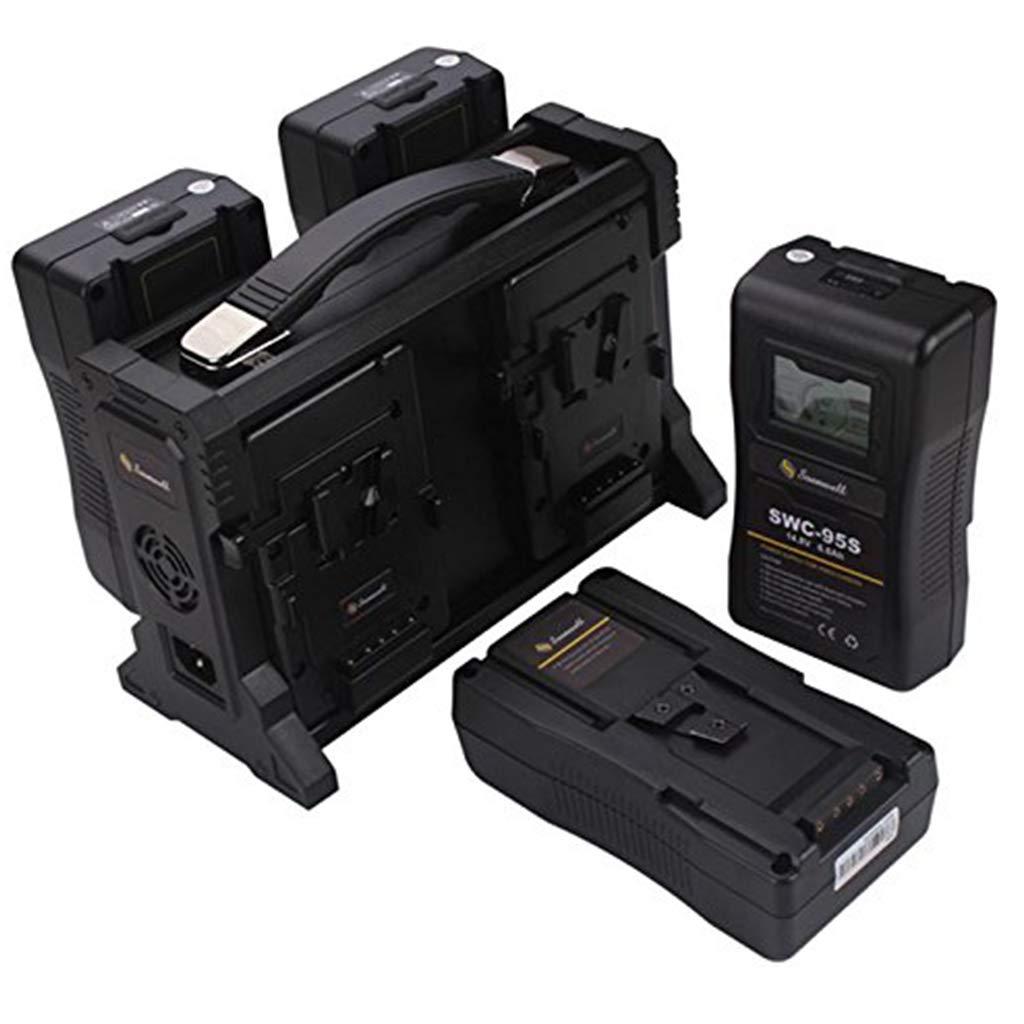 SOONWELL V マウント4CH 同時 バッテリーチャージャー 4チャンネル同時充電可能なバッテリーチャージャ ー ビデオカメラVロックバッテリー適用   B07RN7XDPB