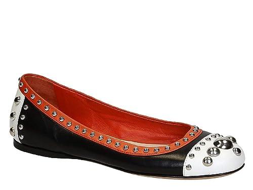 Bailarinas 1F770E Prada y complementos F0967 Suave es EU OK7 Piel en Tamaño Modelo Amazon Zapatillas 36 de Número NegraBlancaroja Zapatos gqUdzWqS5
