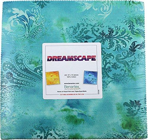(Benartex DREAMSCAPE 10-inch Precut Squares Cotton Fabric Quilting Assortment Layer Cake )